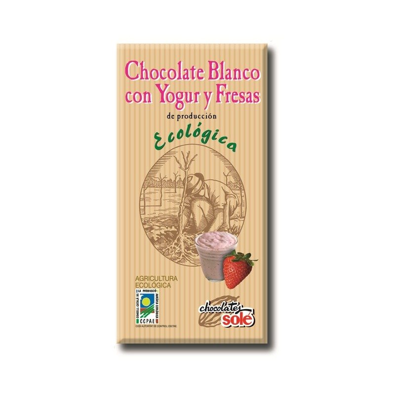 Xocolata Blanca amb Iogurt i Maduixes Eco