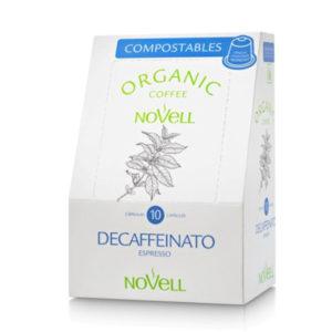 Cafè Descaffeinato Càpsules Compostables – Novell